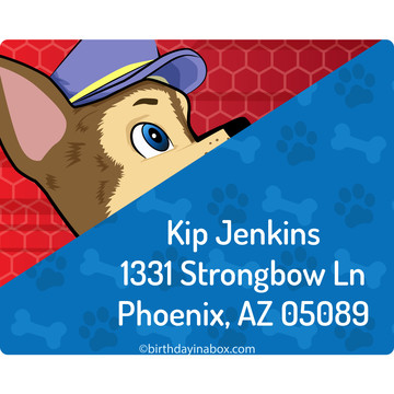 Paw Command Personalized Address Labels (Sheet of 15)