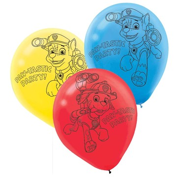 "Paw Patrol 12"" Latex Balloons (6 Pack)"