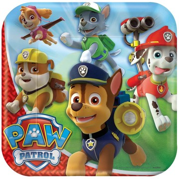 """Paw Patrol 9 """" Luncheon Plate (8 Pack)"""