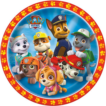"""Paw Patrol 9"""" Luncheon Plates (8 Pack)"""