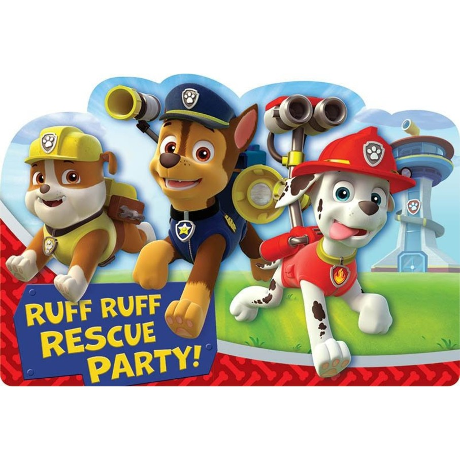 View larger image of Paw Patrol Invitations (8 Pack)
