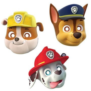 Paw Patrol Paper Mask Favors (8 Pack)