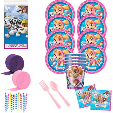 Paw Patrol Pink Deluxe Tableware Kit (Serves 8)