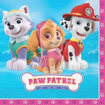 Paw Patrol Pink Luncheon Napkin (16 Count)