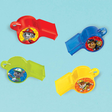 Paw Patrol Whistle Favors (12 Count)