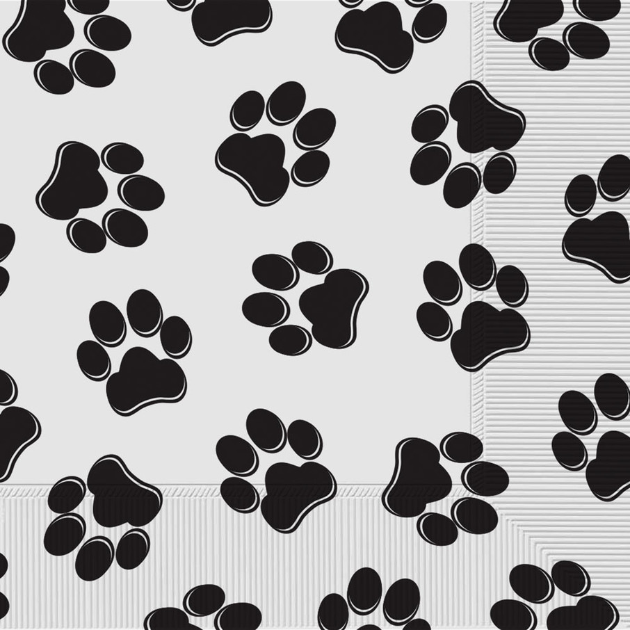 View larger image of Paw Print Lunch Napkins (16)