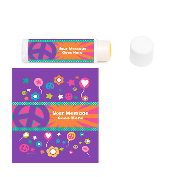 Peace Love Birthday Personalized Lip Balm (12 Pack)
