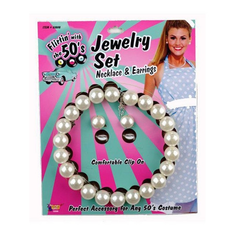 View larger image of Pearl Necklace And Earrings