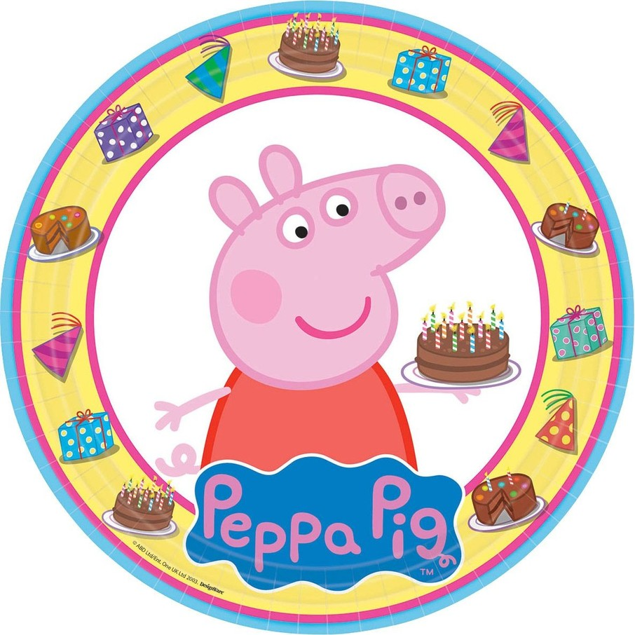 "View larger image of Peppa Pig 9"" Luncheon Plate (8 Pack)"