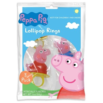 Peppa Pig Candy Ring (3 Pack)