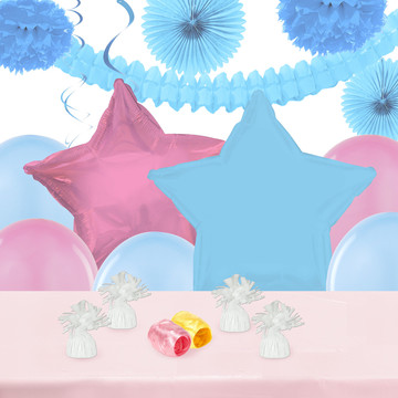 Pink and Blue Decoration Kit