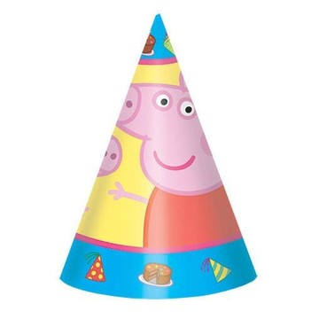Peppa Pig Party Hats (8 Pack)