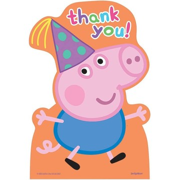 Peppa Pig Thank You Cards (8 Count)