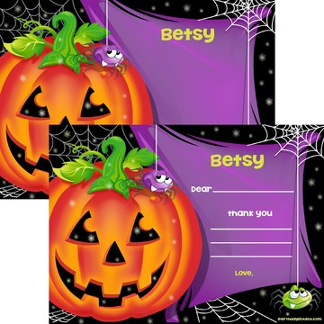 Perfect Pumpkin Personalized Thank You Note (Each)