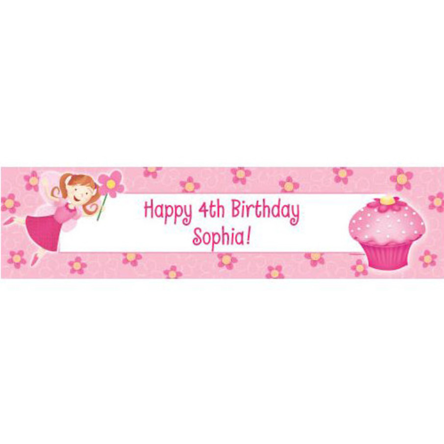 View larger image of Perfectly Pink Personalized Banner (each)
