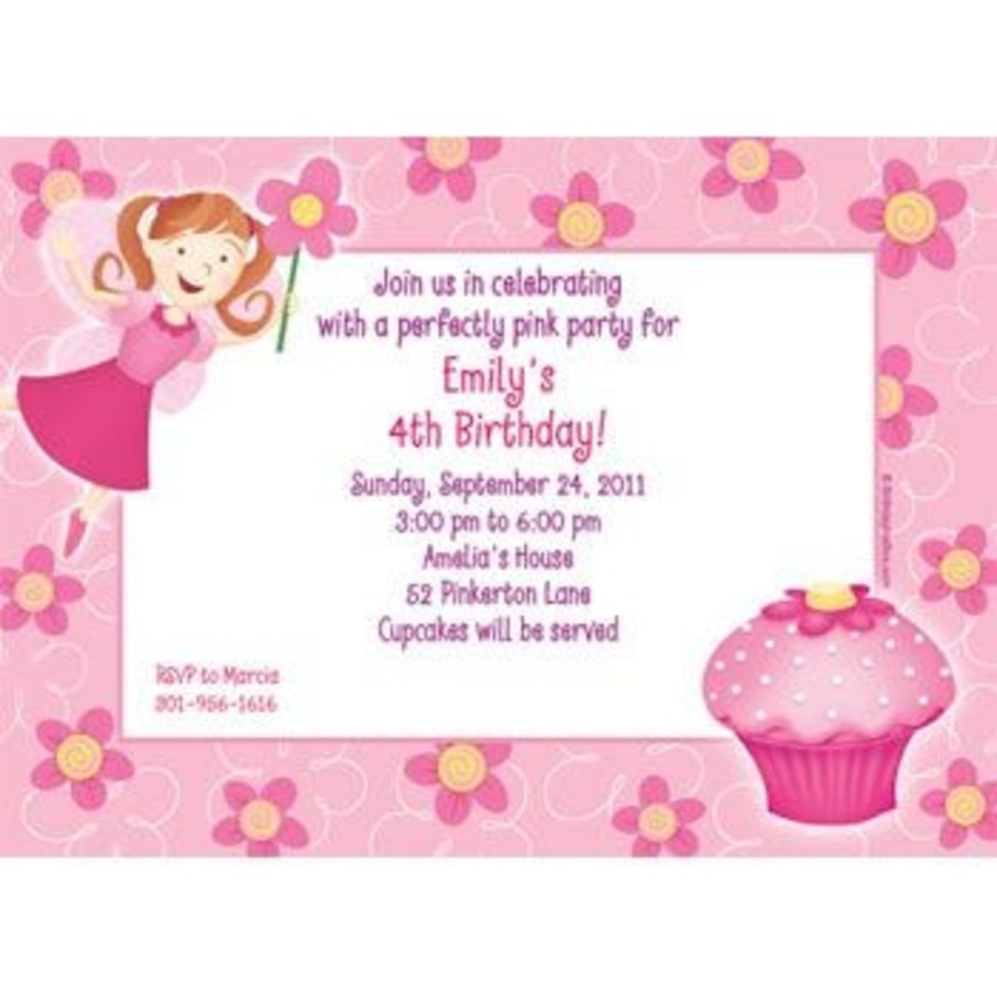 View larger image of Perfectly Pink Personalized Invitation (each)