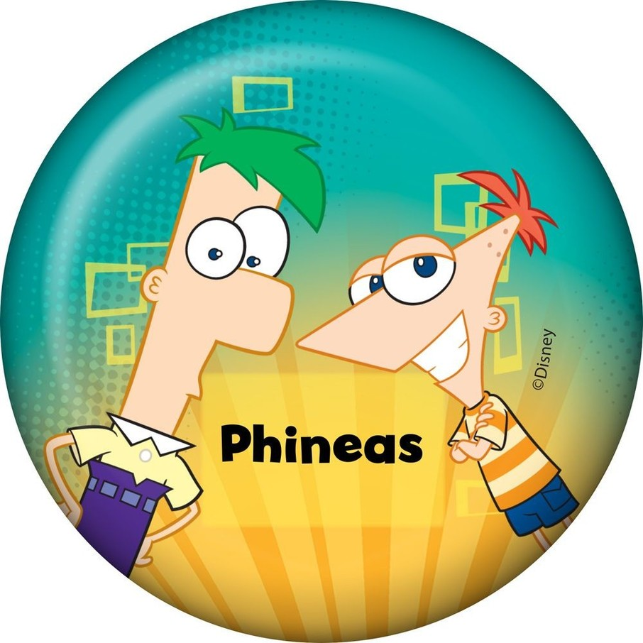 View larger image of Phineas And Ferb Personalized Button (Each)