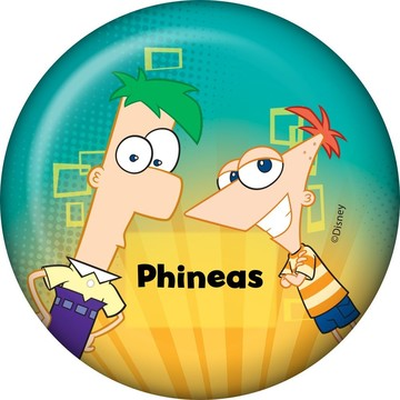 Phineas And Ferb Personalized Button (Each)