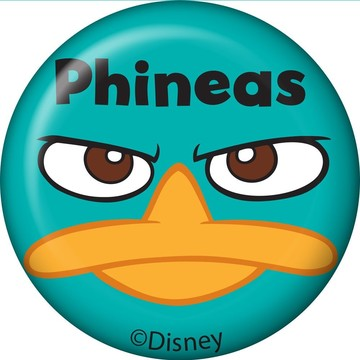 Phineas And Ferb Personalized Mini Button (Each)