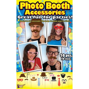 Photo Booth Accessory Kit (20 Pieces)