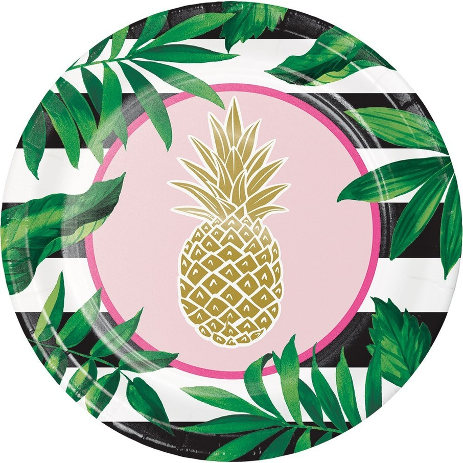 """View larger image of Pineapple 9"""" Lunch Plate (8)"""