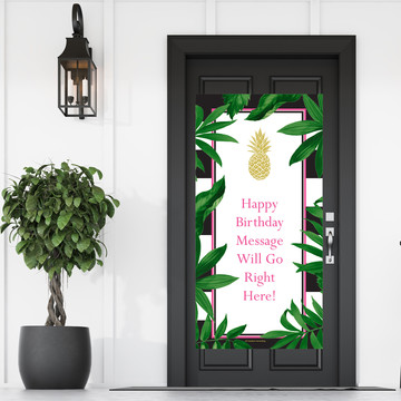 Pineapple Party Personalized Banner 30 X 60 Inches (Each)