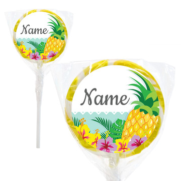 """Pineapple Personalized 2"""" Lollipops (20 Pack)"""