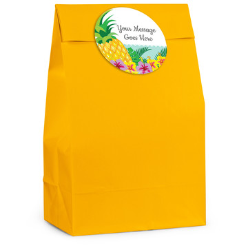 Pineapple Personalized Favor Bag (12 Pack)