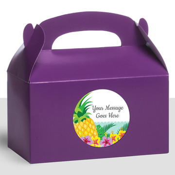 Pineapple Personalized Treat Favor Boxes (12 Count)