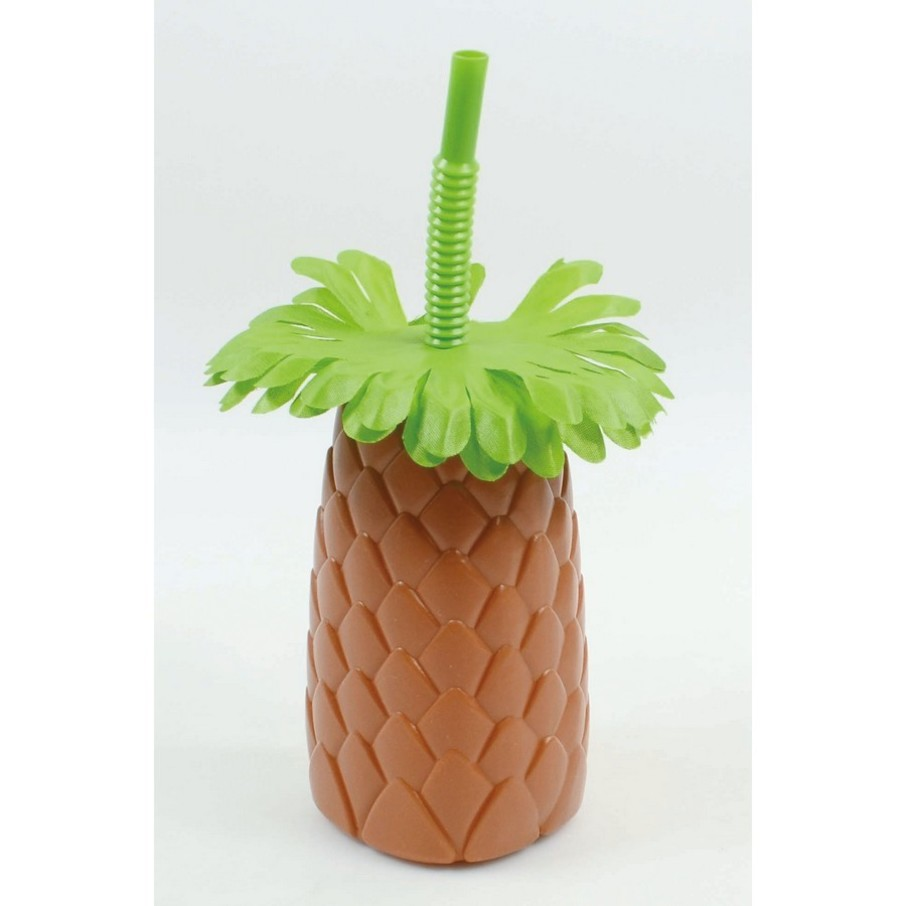 View larger image of Pineapple Sipper Cup with Straw (1)