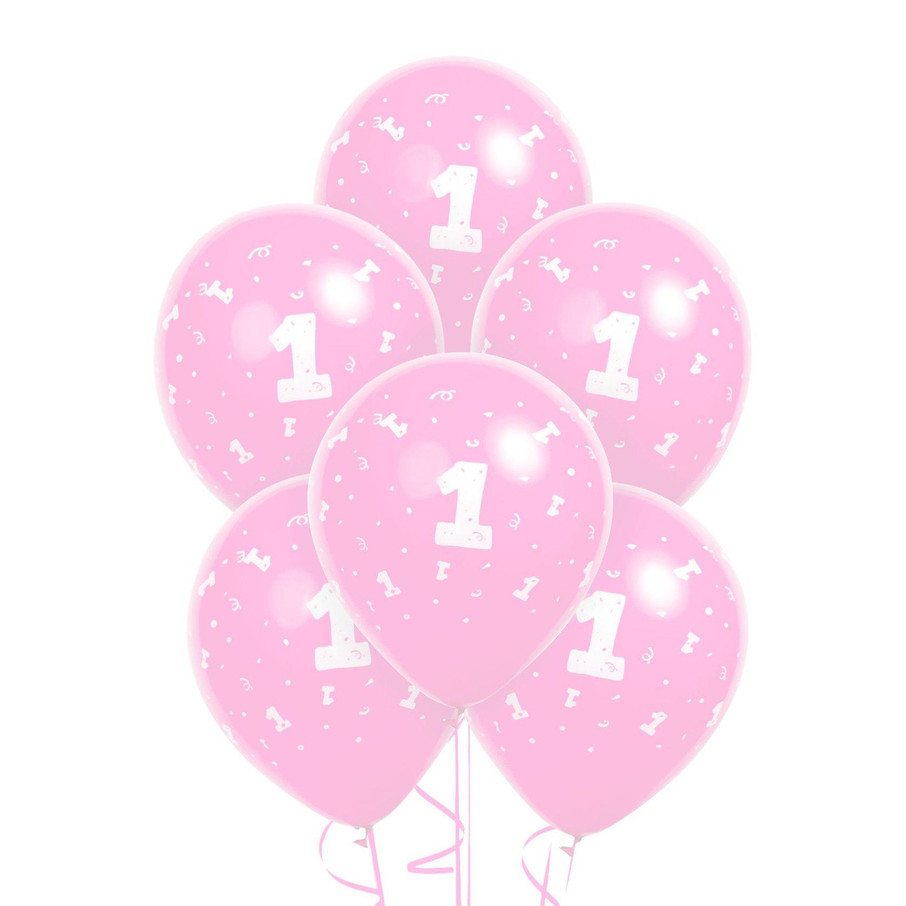 View larger image of Pink 1 Latex Balloons