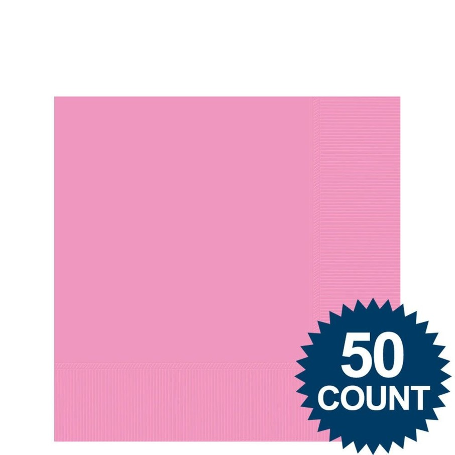 View larger image of Pink 2-Ply Beverage Napkins, 50ct.