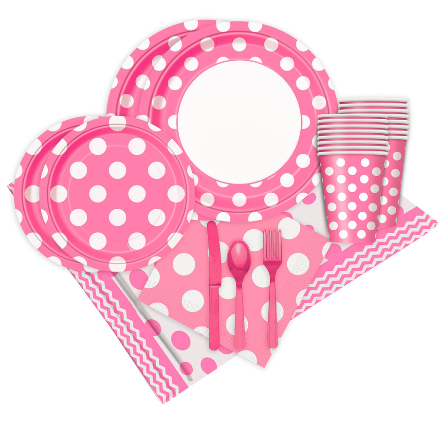 View larger image of Pink and White Dots Party Pack (16)