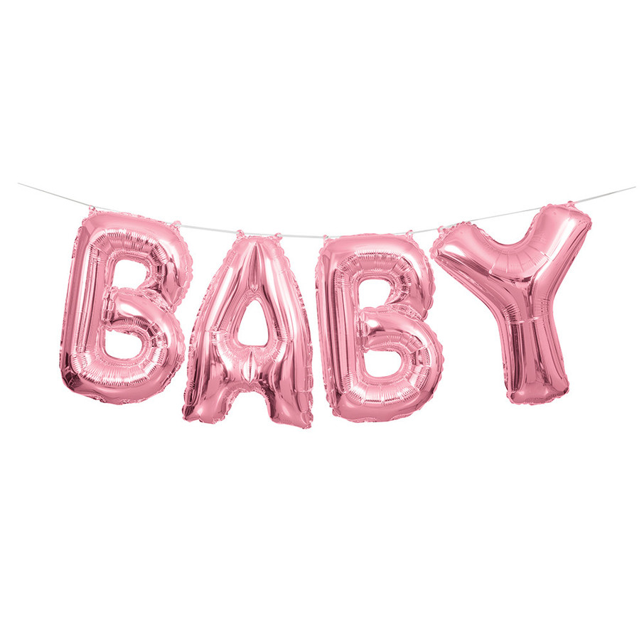 View larger image of Pink Baby Balloon Letter Banner
