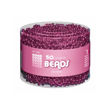 Pink Bead Necklaces-Multipack