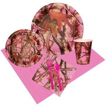 Pink Camo 16 Guest Party Pack