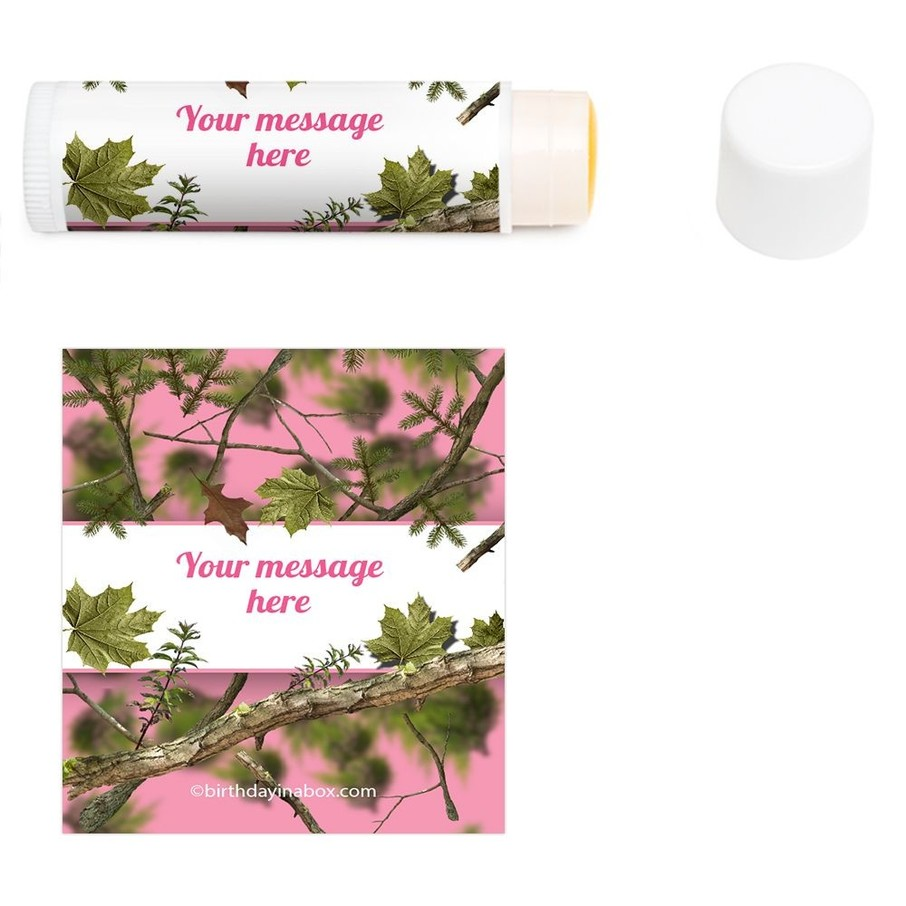 View larger image of Pink Camo Personalized Lip Balm (12 Pack)