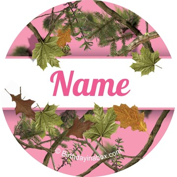 Pink Camo Personalized Mini Stickers (Sheet of 24)