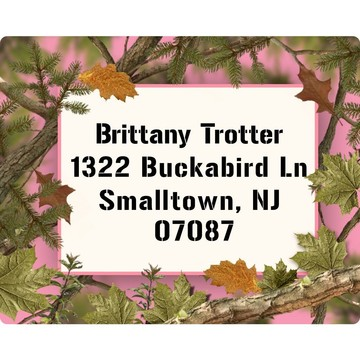 Pink Cover Personalized Address Labels (15 Sheet)