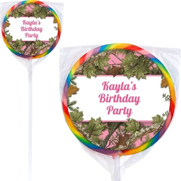 Pink Cover Personalized Lollipops (12 Pack)