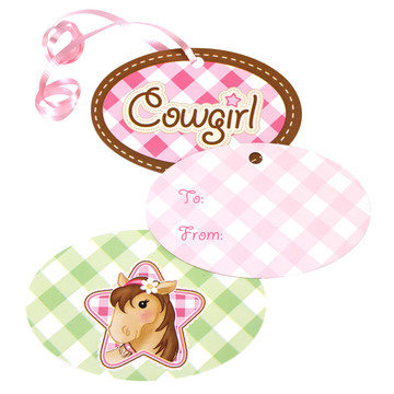 Pink Cowgirl Gift Tags