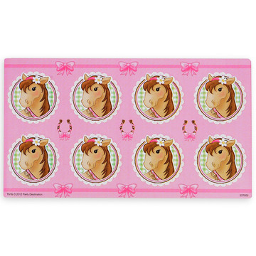 Pink Cowgirl Small Lollipop Sticker Sheet