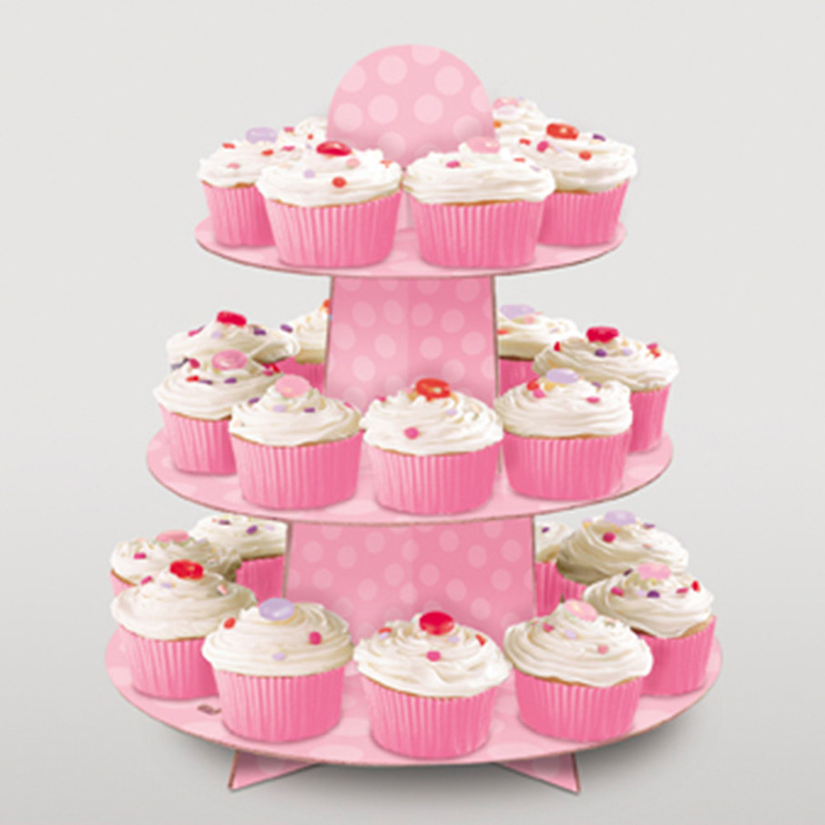 View larger image of Pink Cupcake Stand (Each)