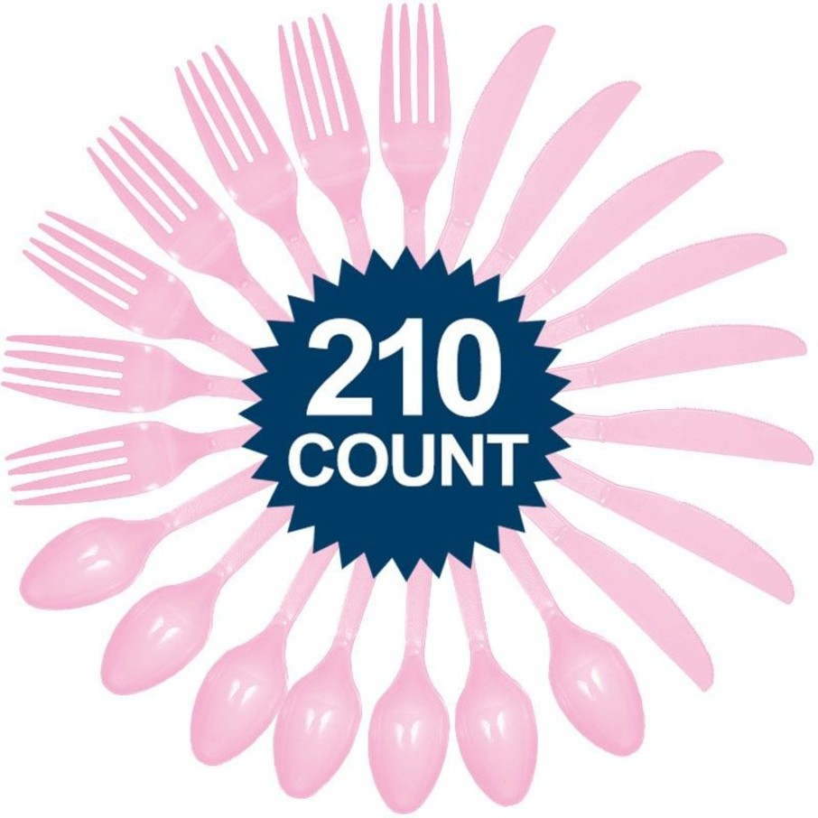 View larger image of Pink Cutlery Set - Value Pack 210 ct