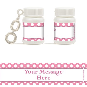 Pink Dots Personalized Bubbles (18 Pack)
