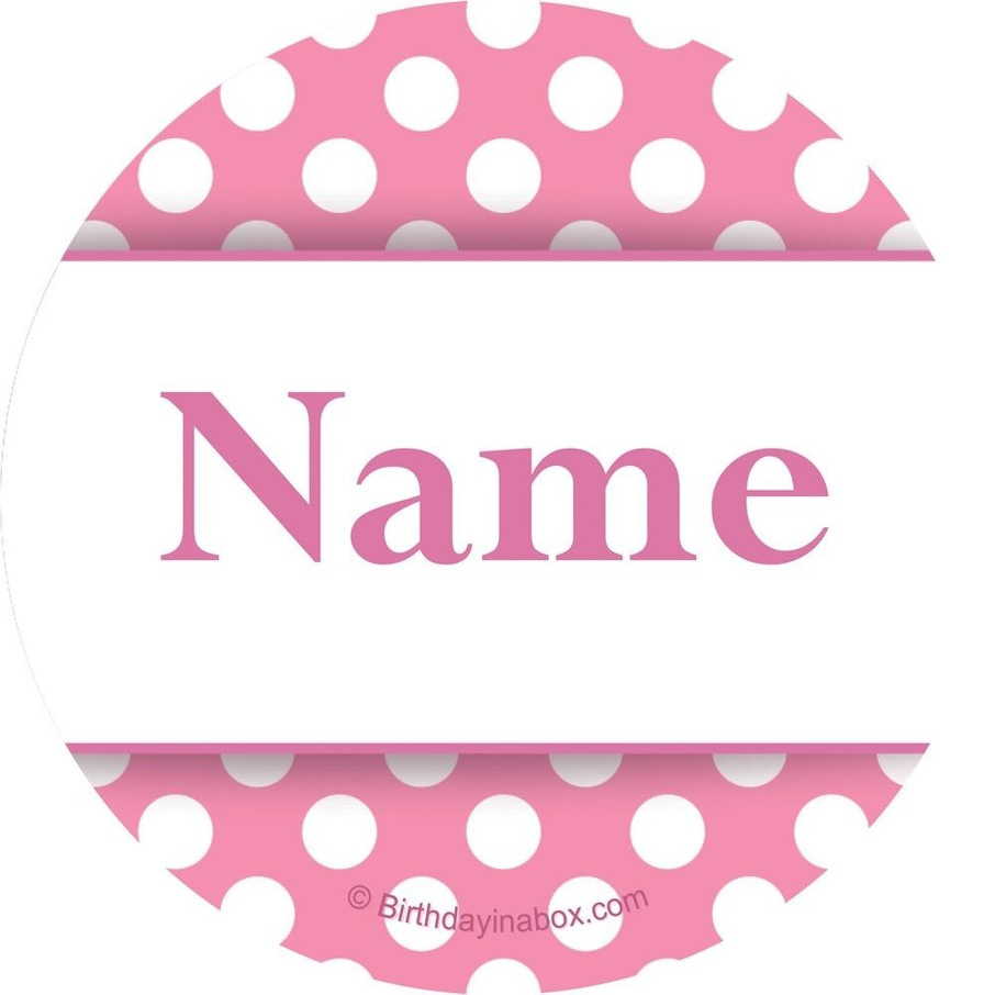 View larger image of Pink Dots Personalized Mini Stickers (Sheet of 24)