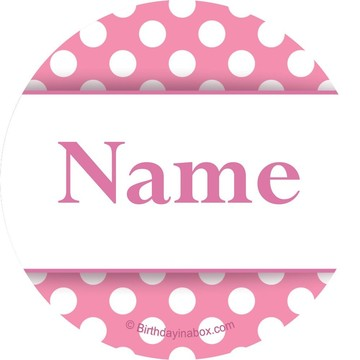 Pink Dots Personalized Mini Stickers (Sheet of 24)