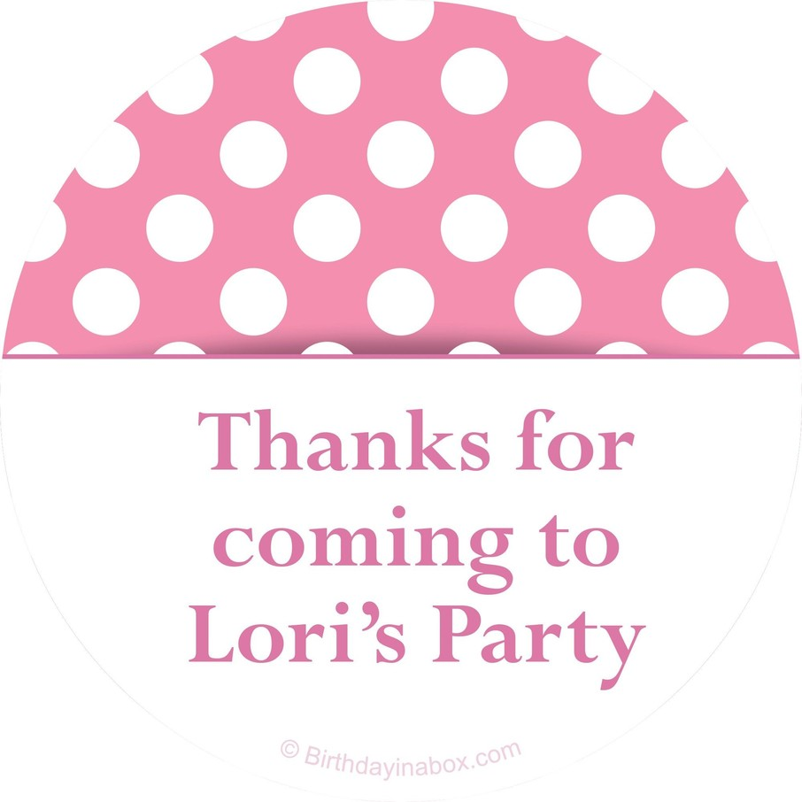 View larger image of Pink Dots Personalized Stickers (Sheet of 12)