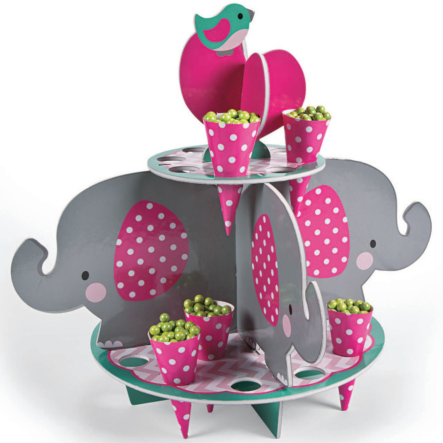 View larger image of Pink Elephant Treat Stand With Cones
