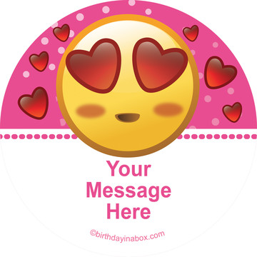 Pink Emoji Personalized Stickers (Sheet of 12)